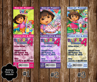 dora the explorer porn products doratickets details about dora explorer ticket birthday party invitation