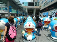 doraemon porn doraemon hong kong statues years ding dong birthday exhibit robot cats anniversary jody birth