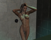 lara croft hentai lara croft showering tomb raider hentai cgi muscled page