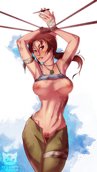 lara croft hentai lara croft ninjakitty bound exposed ninja kitty