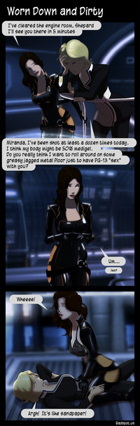 mass effect porn media original mass effect comic worn down pervert cartoon porn