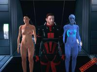 mass effect porn nude skins mass effect female mod team games