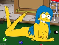 marge and lisa simpson porn marge simpson simpsons pool table wife gone wild