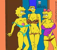marge and lisa simpson porn bdba marge simpson simpsons lisa maggie fear