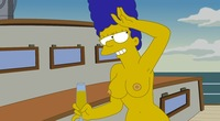 marge simpson naked marge simpson simpsons topless boat