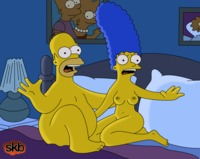 marge simpson naked marge homer night together interrupted