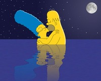 marge simpson naked marge homer simpson moonlight skinny dip monday dipping