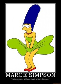 marge simpson naked demotivational poster marge simpson simpsons hardcore