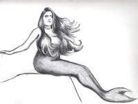 mermaid porn mermaid drawing second preliminary painting