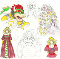 princess peach hentai bowser pre bowsers peaches ibeewitched kisd morelikethis collections