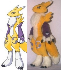 renamon porn digimon renamon plush pic yutakayumi art side