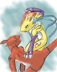 Guilmon porn x Renamon