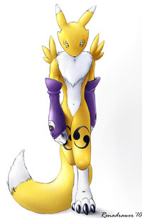 renamon porn pre renamon walking towards renadrawer art