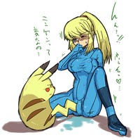samus aran hentai blush duplicate furry interspecies metroid nintendo pikachu pokemon pokephilia pussy juice samus aran super smash bros tail next