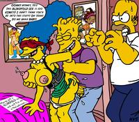 simpcest ffa bart simpson homer marge simpsons nev