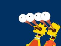 bart and marge fuck wallpapers bart lisa eyes popout wallpaper simpsons