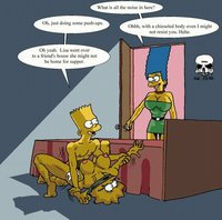 bart and marge fuck heroes simpsons marge naked cartoon toons bart lisa
