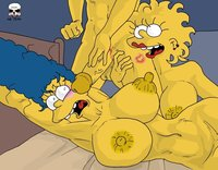 bart lisa porn heroes simpsons marge lisa party