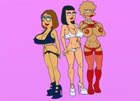 family guy hentai cdd american dad family guy hayley smith lisa simpson meg griffin fear simpsons entry