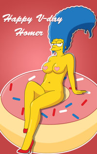 homer and marge bondage marge simpson simpsons valentine monday happy valentines