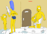 homer and marge bondage bart simpson homer lisa marge nytemare simpsons bondage discipline