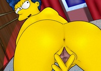 homer and marge bondage marge simpson simpsons spreads