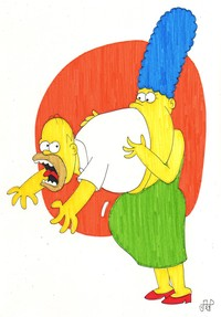 homer and marge bondage marge swallows homer emperornortonii morelikethis fanart cartoons traditional