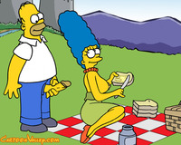 homer and marge bondage cartoonvalley simpsons pic marge invites homer picnic presents toon