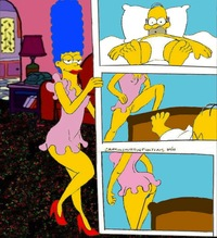 homer and marge bondage marge simpson simpsons homer modles lingerie monday