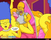 homer and marge bondage wmimg simpsons comic marge cartoon homer sexy toons
