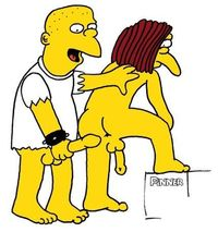 homer and marge bondage cartoon simpsons andnot