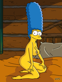 homer and marge bondage marge simpson simpsons log cabon bed homer bondage