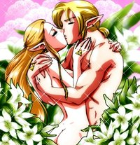 zelda hentai hentai absurdres ass blonde hair cells art couple earrings flower highres jewelry kiss link long muscle nintendo nude pointy ears princess zelda legend triforc page
