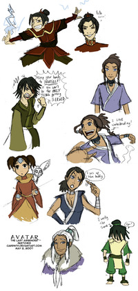 avatar the last airbender toph nude photos original aang avatar last airbender azula katara sokka toph yue zuko