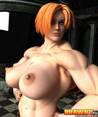 busty toon babes sex toons dee galleries busty muscled nude toon