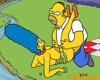 dirty toons sex picnic horny homer ends outdoor