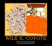 dirty toons sex demotivational poster wile coyote looney toons afterglow facebookview
