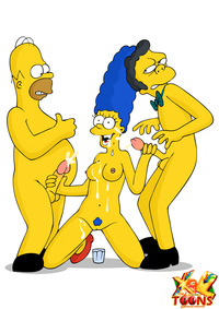 dirty toons sex marge gets talked hot threesome