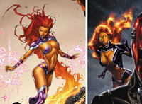 sexy drawings of a famous super heroine hot porn starfire existing head stupid superheroine designs that need redesign stat comment page