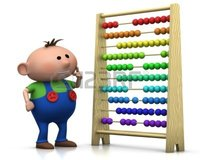 cartoon ladies porn braverabbit rendering illustration cute cartoon boy standing front abacus