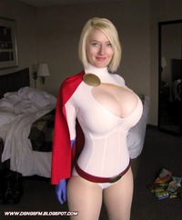 super heroes porn toons power girl sexy cosplay boobs huge breasts milf san diego comic con pose comics actress thick blonde fema entry