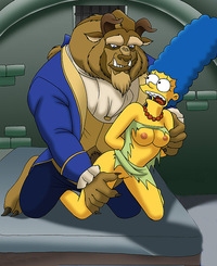 Important and Half naked beauty and the beast toon porn