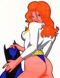 dirty drawn fantasies toon sex batgirl supergirl gallery batman pencil