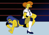 marge and edna getting plowed porn edna krabappel marge simpson jobberman cteo sexy simpsons
