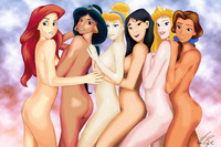 Are not Princess cinderella naked