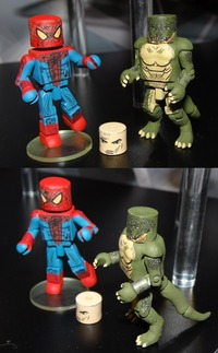 spider-man and futurama porn amazing spider man movie minimates series lizard look