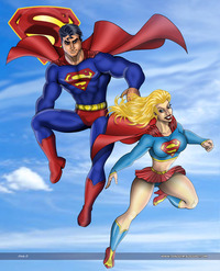 superman and supergirl fucking superman super girl supergirl boobs sexy poster dsng series tcatt wonder woman