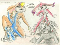 lola bunny porn dad babs bunny bugs buster lola looney tunes space jam tiny toon adventures fatalis