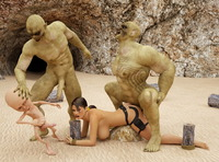 lara croft's holes under attack porn dmonstersex scj galleries ogre brothers keep fucking lara croft until sated