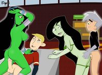 kim, shego and others in sex cartoons porn heroes kimpossible